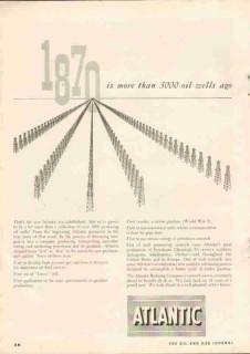 Atlantic Refining Company 1951 Vintage Ad Oil Gas Wells Pipeline