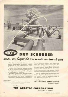 Aerotec Corp 1951 Vintage Ad Oil Gas Dry Scrubber Thermix