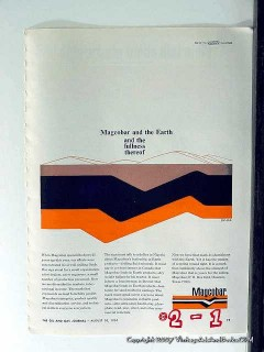 Magnet Cove Barium Corp 1965 Vintage Ad Oil Magcobar Earth Product