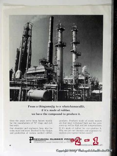 Precision Rubber Products Corp 1977 Vintage Ad Oil Petroleum Industry