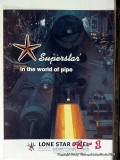 Lone Star Steel Company 1977 Vintage Ad Oil Field Pipe Superstar