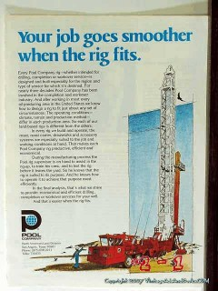 Pool Company 1977 Vintage Ad Oil Well Drilling Rig Job Goes Smoother