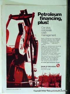 bank of oklahoma 1977 petroleum financing plus vintage ad