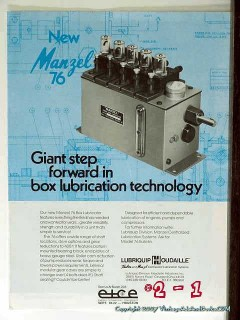 Houdaille Industries Inc 1977 Vintage Ad Oil Box Lubrication Lubriquip