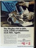 Hughes Tool Company 1977 Vintage Ad Oil Field Rock Bits Revolutionize