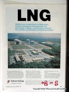 Pullman Incorporated 1977 Vintage Ad LNG Kellogg Experience Technology