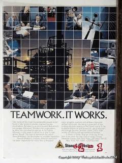 Process Industries Group 1977 Vintage Ad Oil Teamwork Stone Webster