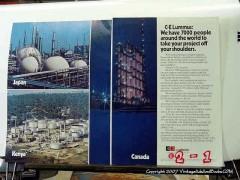 C E Lummus Combustion Engineering 1977 Vintage Ad Oil World Project