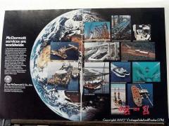 J Ray McDermott Company 1977 Vintage Ad Petroleum Services Worldwide
