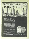 Broderick Bascom Rope Company 1928 Vintage Ad Oil Field Drilling Lines