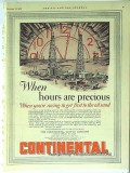 Continental Supply Company 1928 Vintage Ad Oil When Hours Are Precious