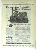 Lucey Mfg Corp 1928 Vintage Ad Oil Field Portable Draw Works Drilling