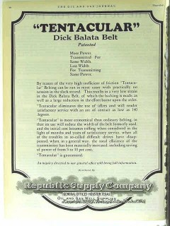 Republic Supply Company 1928 Vintage Ad Oil Tentacular Dick Balata