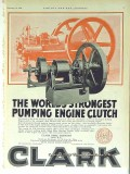Clark Brothers Company 1928 Vintage Ad Oil Pumping Engine Clutch
