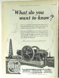 Hope Engineering Supply Company 1928 Vintage Ad Gas Horizontal Know