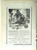 Pure Oil Company 1928 Vintage Ad Petroleum Back Advertisement Counts