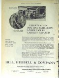Hill Hubbell Company 1928 Vintage Ad Oil Pipe Line Corrosion Coating