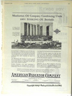 American Radiator Company 1928 Vintage Ad Oil Condensing Units