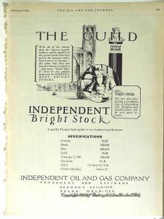 Independent Oil Gas Company 1928 Vintage Ad Petroleum Producer Refiner