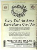 Acme Fishing Tool Company 1928 Vintage Ad Oil Field Every Hole Good
