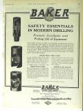 Baker Casing Shoe Company 1928 Vintage Ad Oil Safety Modern Drilling