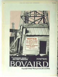 Bovaird Company 1928 Vintage Ad Oil Drilling Standing Order Producers
