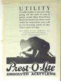 Prest-O-Lite Company 1928 Vintage Ad Oil Dissolved Acetylene Utility