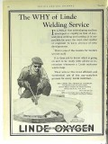 Linde Air Products Company 1928 Vintage Ad Oil Oxygen Welding Service