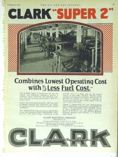 Clark Brothers Company 1928 Vintage Ad Oil Lowest Operating Cost Fuel