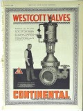 Continental Supply Company 1928 Vintage Ad Oil Westcott Valves Pipe