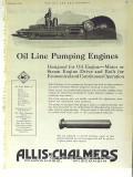 Allis-Chalmers 1928 Vintage Ad Oil Line Pumping Engines Petroleum