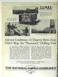 Climax Engineering Company 1928 Vintage Ad Oil Drilling Paymaster Unit