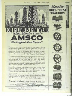 american manganese steel co 1928 parts that wear amsco vintage ad