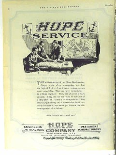 Hope Engineering Supply Company 1928 Vintage Ad Oil Field Gas Service