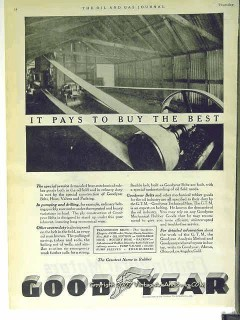 Goodyear Tire Rubber Company 1928 Vintage Ad Oil Field Belts Hoses