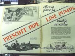 Prescott Company 1928 Vintage Ad Oil Pipe Line Pumps Ralston OK