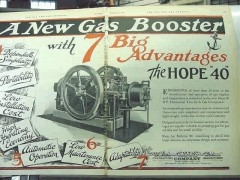 Hope Engineering Supply Company 1928 Vintage Ad Gas Booster Advantages