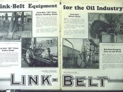 Link-Belt Company 1928 Vintage Ad Oil Industry Equipment Drilling Pump
