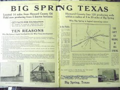Big Spring Texas 1928 Vintage Ad Howard County Oil Field Development