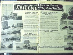 Abilene Texas 1928 Vintage Ad Oil Field Love Live Capital West Texas