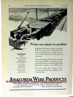 anaconda wire products 1928 copper mining vintage ad