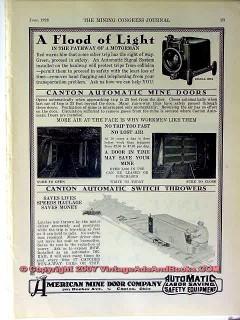 american mine door company 1928 mining light vintage ad