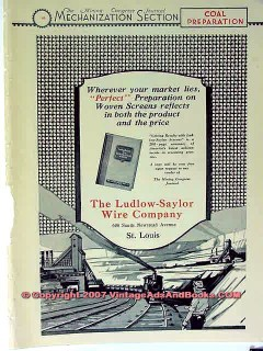 ludlow-saylor wire company 1928 coal mining equipment vintage ad