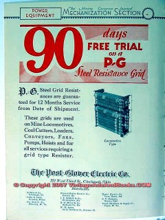 post-glover electric company 1928 mining equipment vintage ad