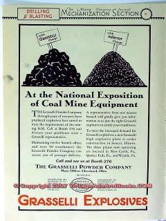 grasselli powder company 1928 coal mining explosives vintage ad