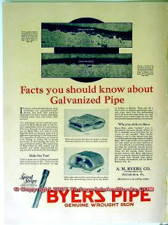 a m byers company 1928 coal mining iron pipe vintage ad