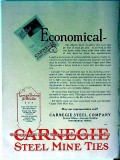 carnegie steel company 1928 economical coal mine ties vintage ad