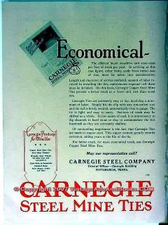 carnegie steel company 1928 economical coal mine ties vintage ad