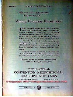 american mining congress 1928 convention and exposition vintage ad