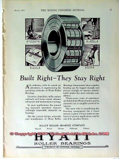 hyatt roller bearing company 1928 built right they stay vintage ad